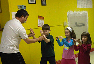 Sifu Pete teaching Kids Class